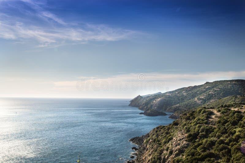 撒丁岛的横向 图库摄影