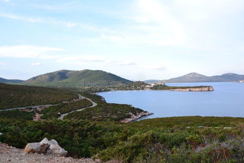 撒丁岛风景,意大利 库存图片