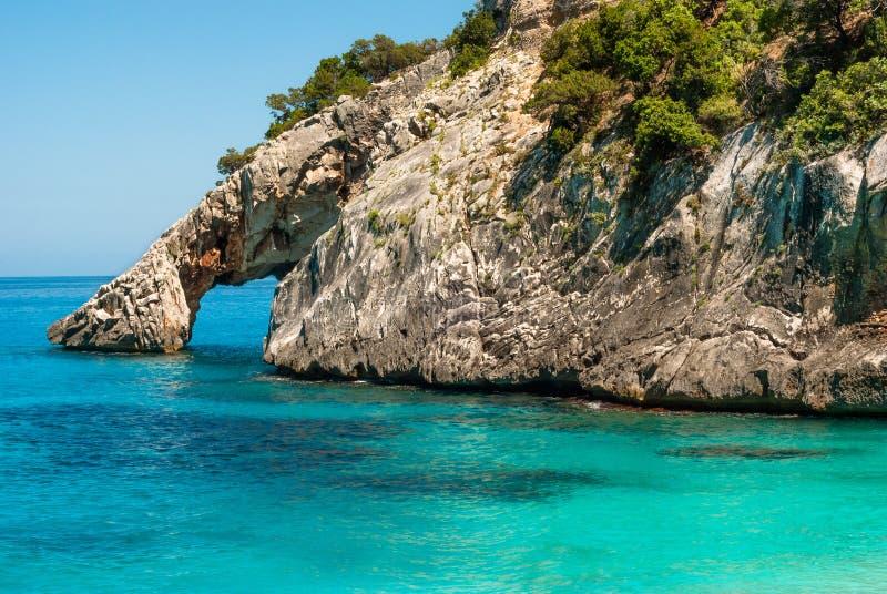 撒丁岛, Cala Goloritzè 库存照片
