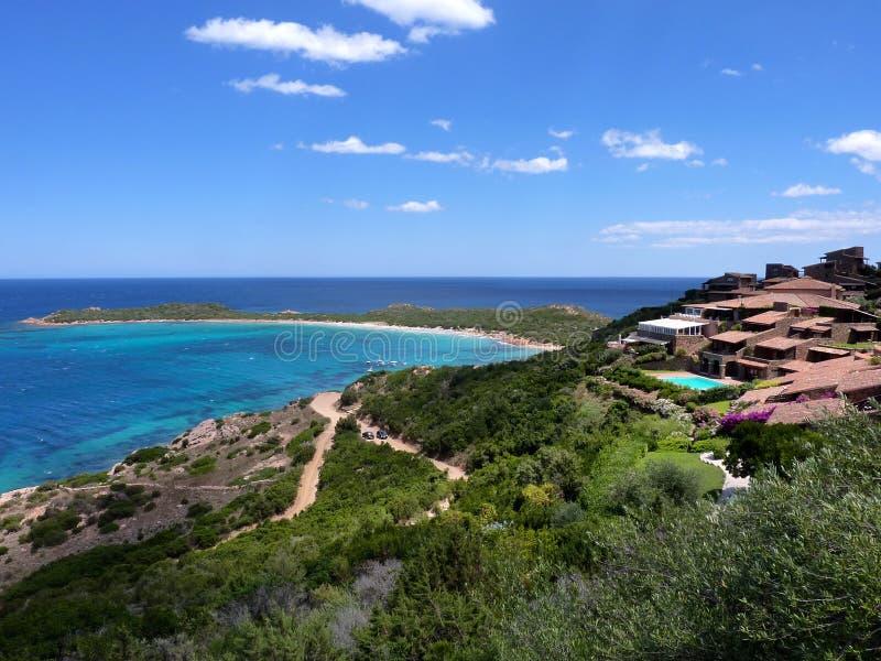 撒丁岛-海湾在圣特奥多罗 库存图片