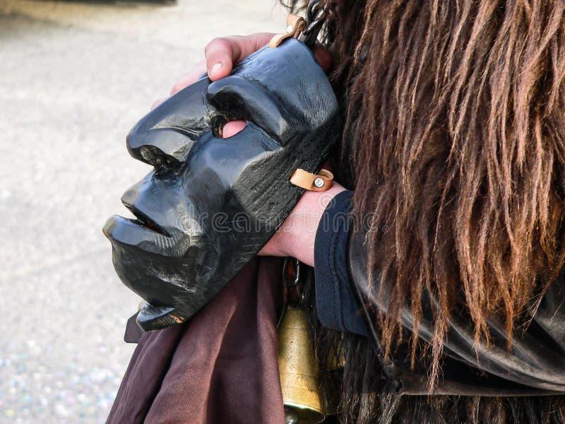 撒丁岛 马莫亚达 狂欢节 库存照片