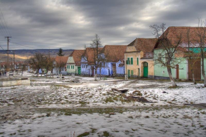 撒克逊人的村庄 免版税库存照片