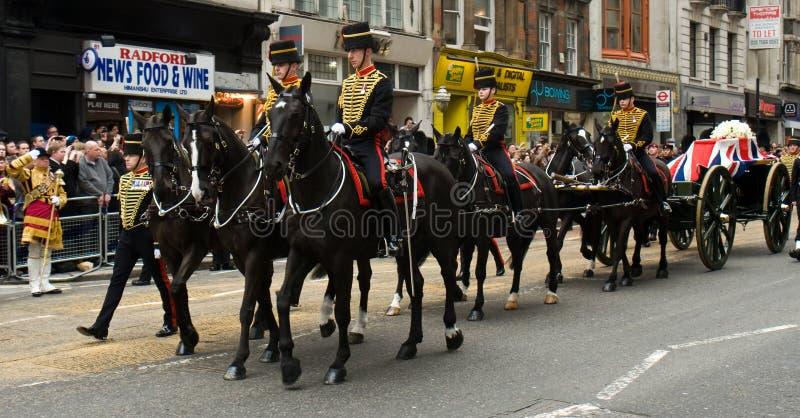 撒切尔男爵夫人的葬礼 库存照片