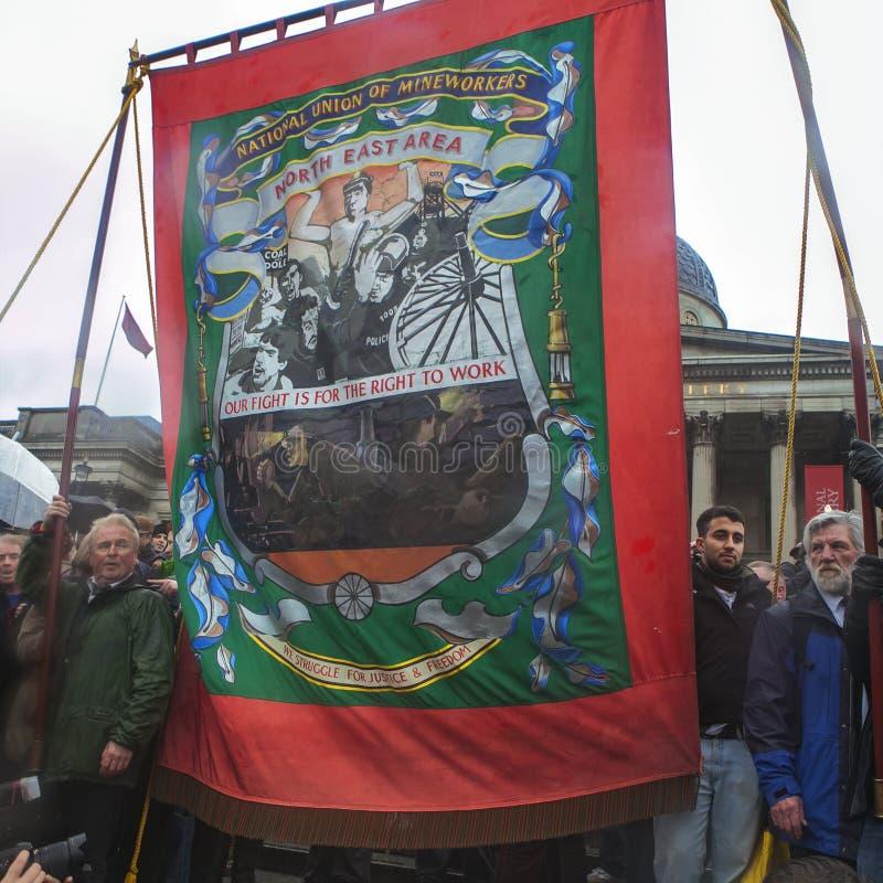 撒切尔死党,特拉法加广场,伦敦 免版税库存照片