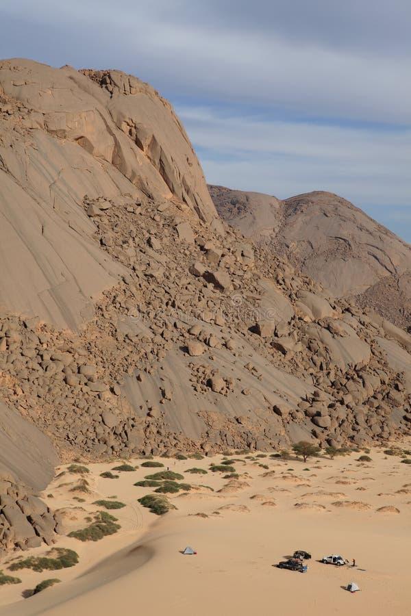 撒哈拉大沙漠在阿尔及利亚 免版税库存照片