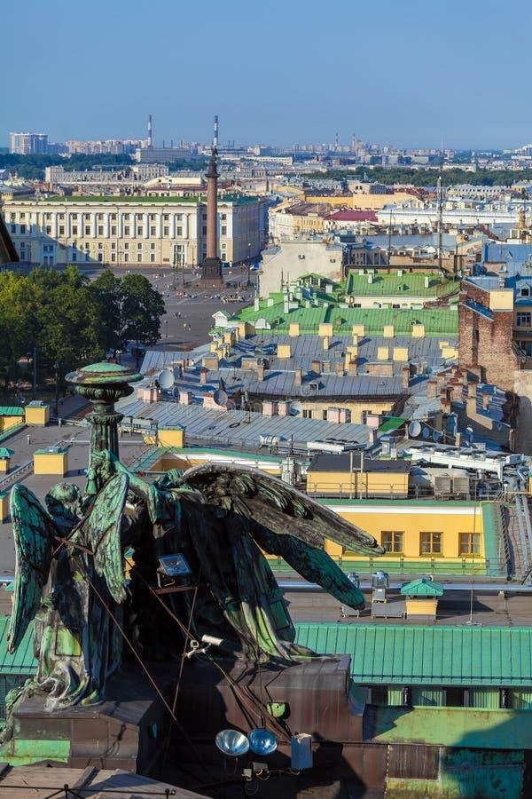 从以撒大教堂,圣彼得堡的鸟瞰图 库存图片