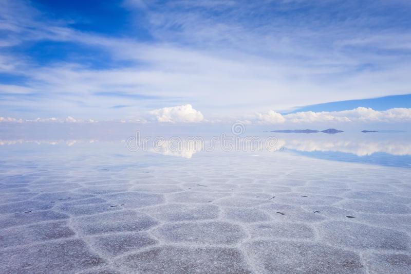 撒拉族de Uyuni沙漠,玻利维亚 库存图片