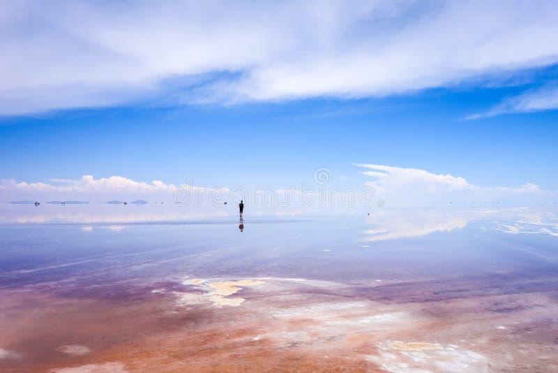 撒拉族de Uyuni沙漠,玻利维亚 图库摄影