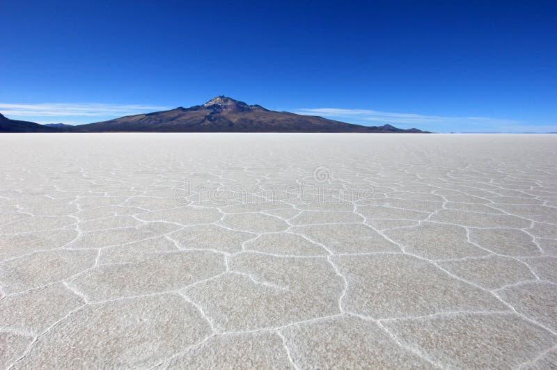 撒拉族de Uyuni,盐湖,玻利维亚 库存图片