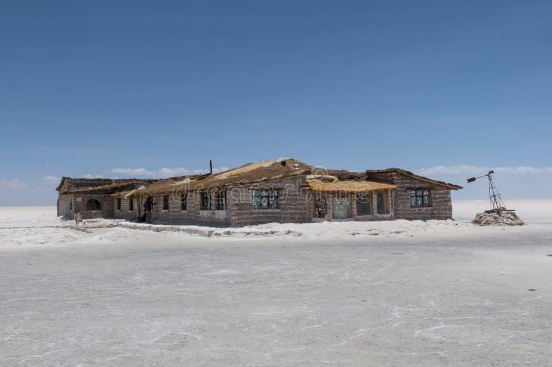 撒拉族de Uyuni -盐旅馆 库存图片