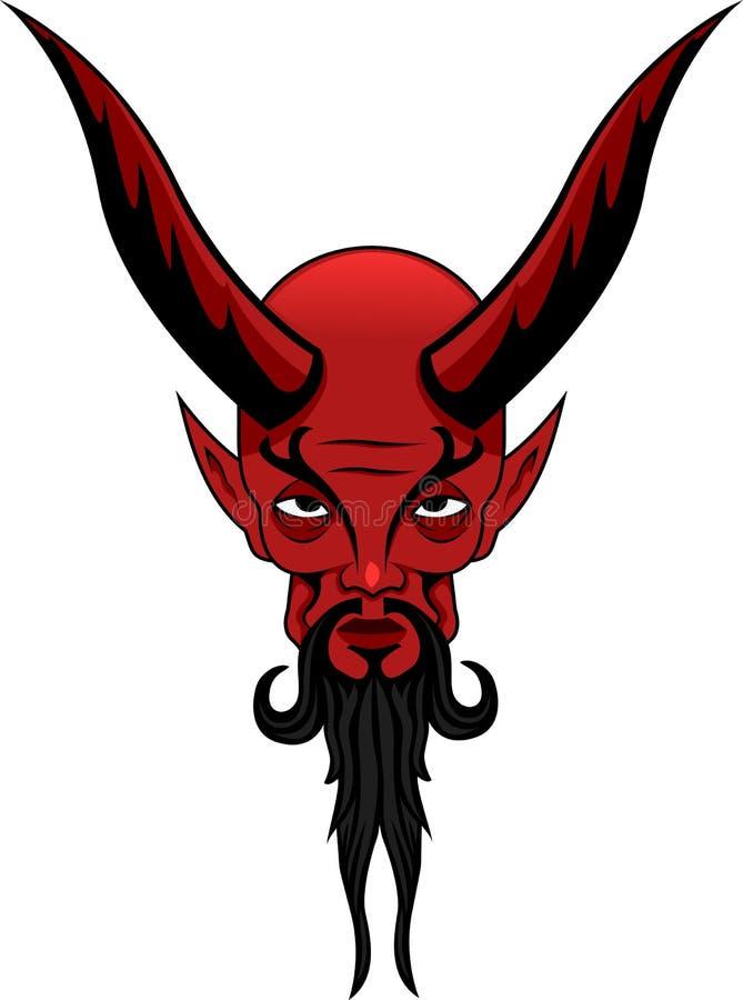 撒旦纹身花刺 图库摄影