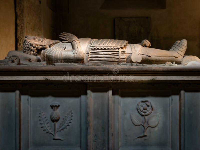 撒母耳Cockburn的坟茔在图尔库大教堂里 芬兰 库存照片