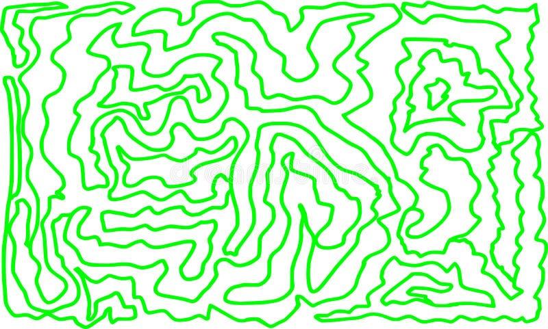 撒石灰用手得出的颜色迷宫样式抽象设计 向量例证