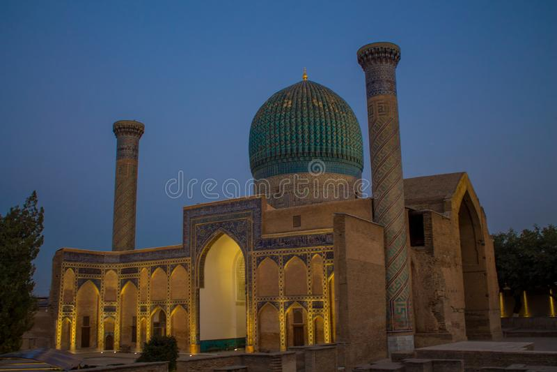 撒马而罕和布哈拉建筑纪念碑乌兹别克斯坦美丽的市 库存照片