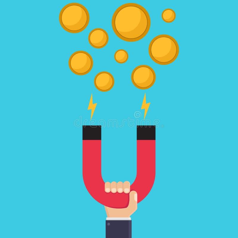 撤出金钱,平的设计传染媒介例证 库存例证
