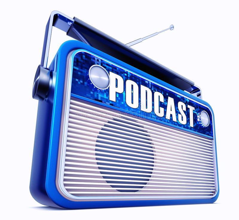 播客收音机 向量例证
