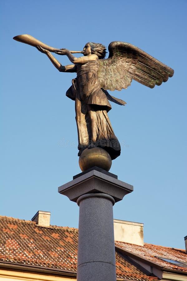 播放垫铁的天使 库存图片