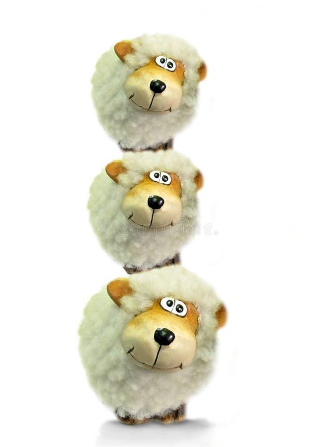 操作平衡的马戏绵羊 免版税库存图片