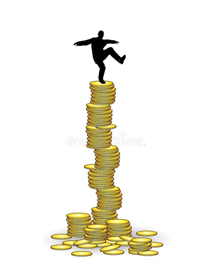 操作平衡财务 向量例证