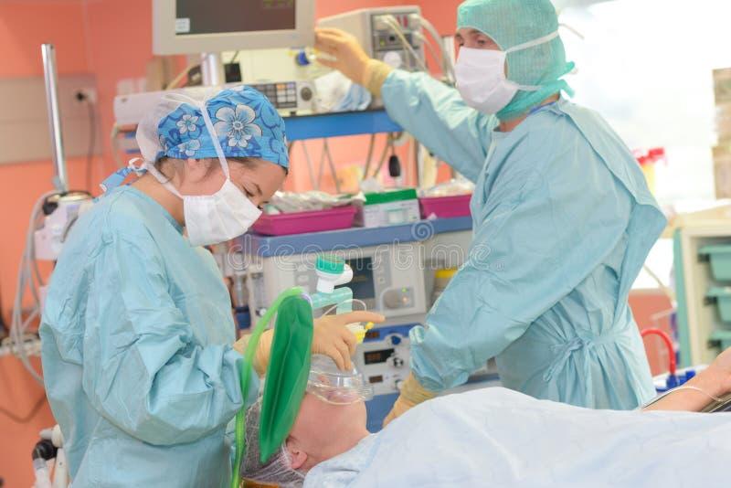 操作过程中在医院剧院 图库摄影