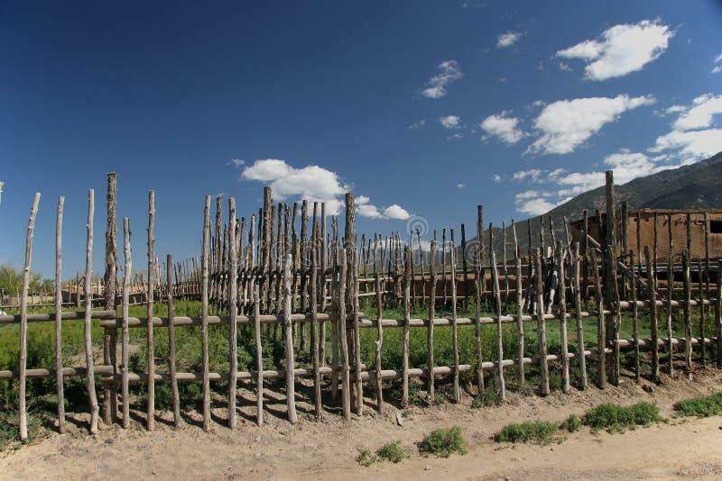 操刀牛槽枥的当地居民在新墨西哥,Taos Â镇 图库摄影