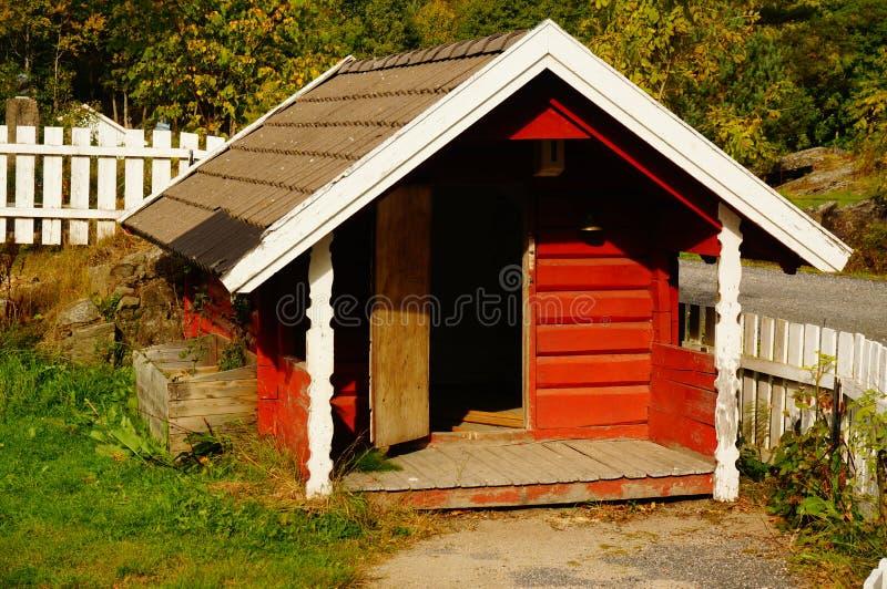 操场房子,泰勒马克郡,挪威 免版税图库摄影