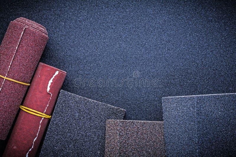 擦亮纸卷的磨蚀海绵的汇集 免版税图库摄影