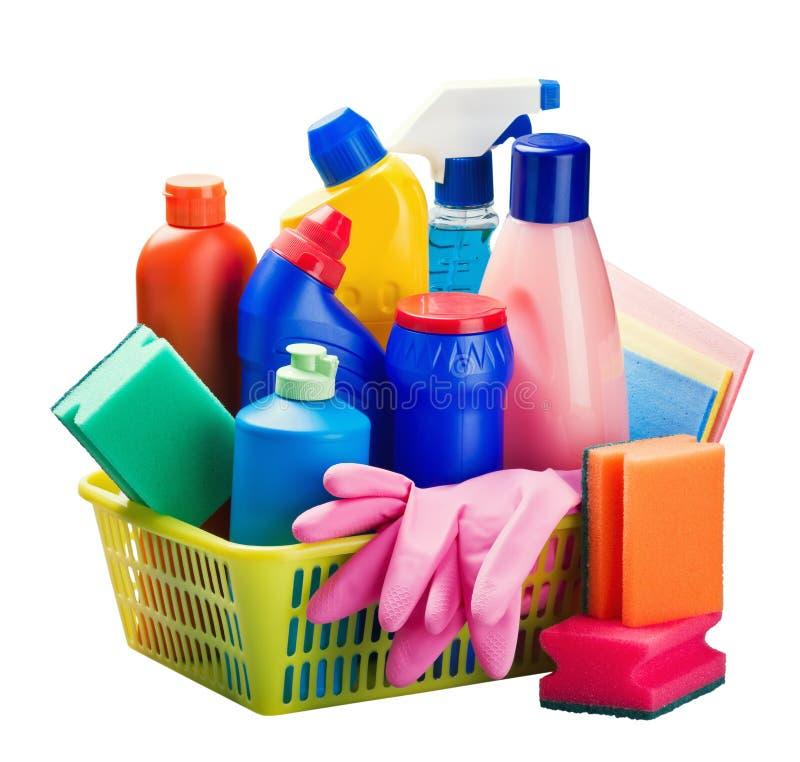 擦净剂和清洁设备 库存图片