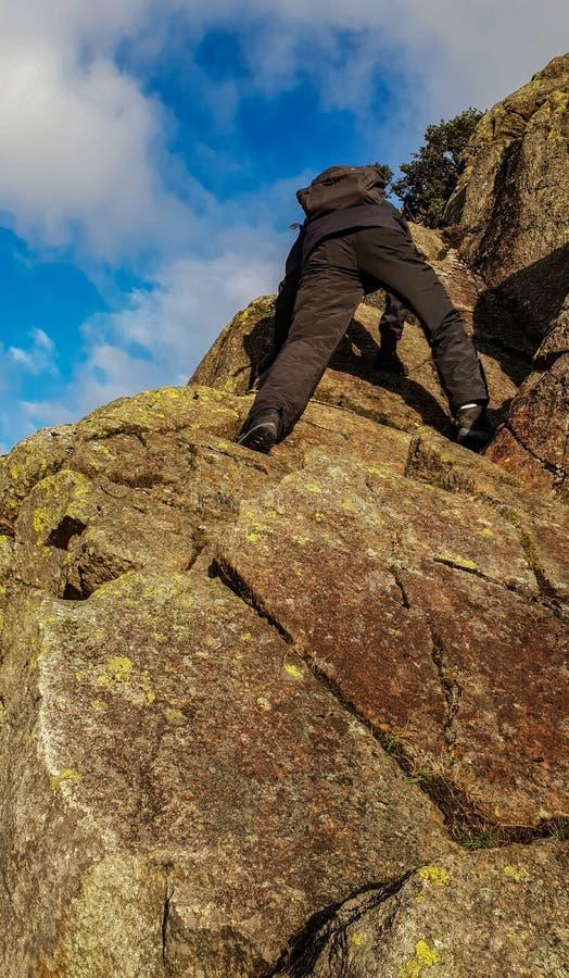 攀岩在湖区 库存图片
