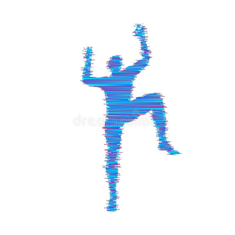 攀岩运动员剪影 Bouldering体育 设计例证担任主角向量 库存例证