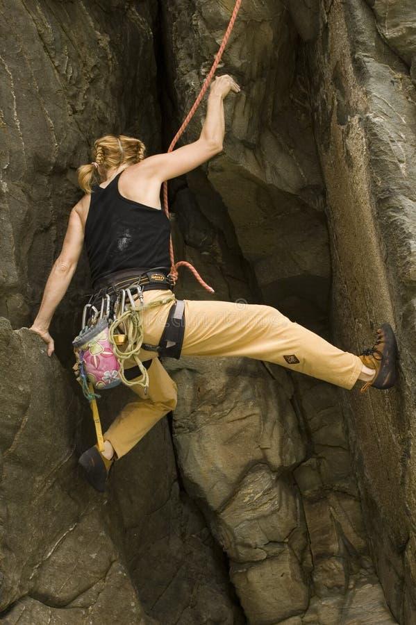 攀岩运动员 库存图片