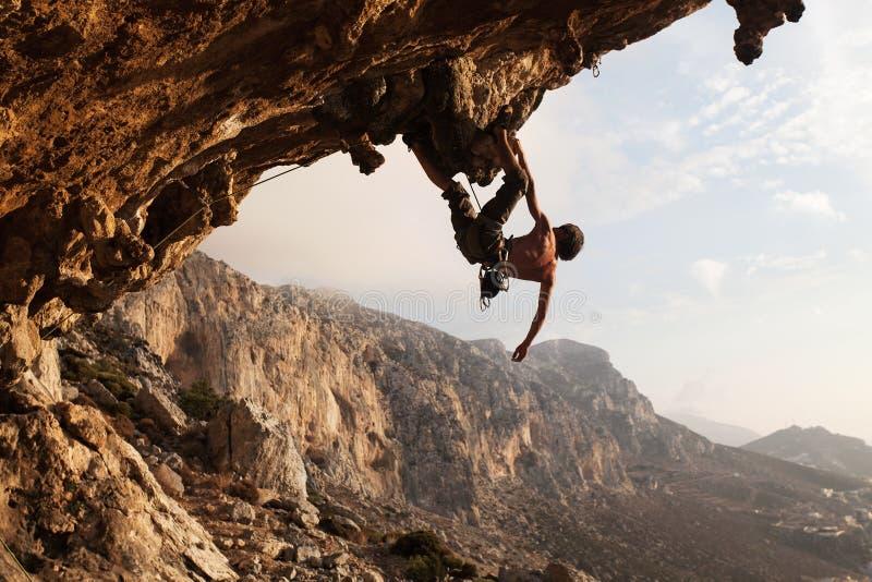 攀岩运动员 免版税图库摄影