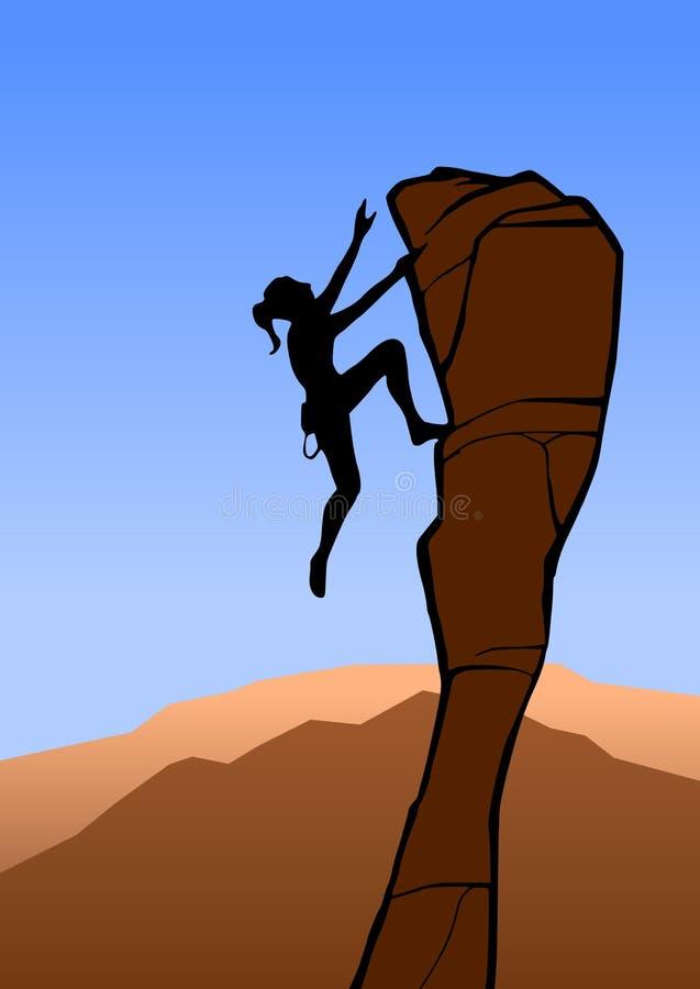 攀岩运动员 库存例证