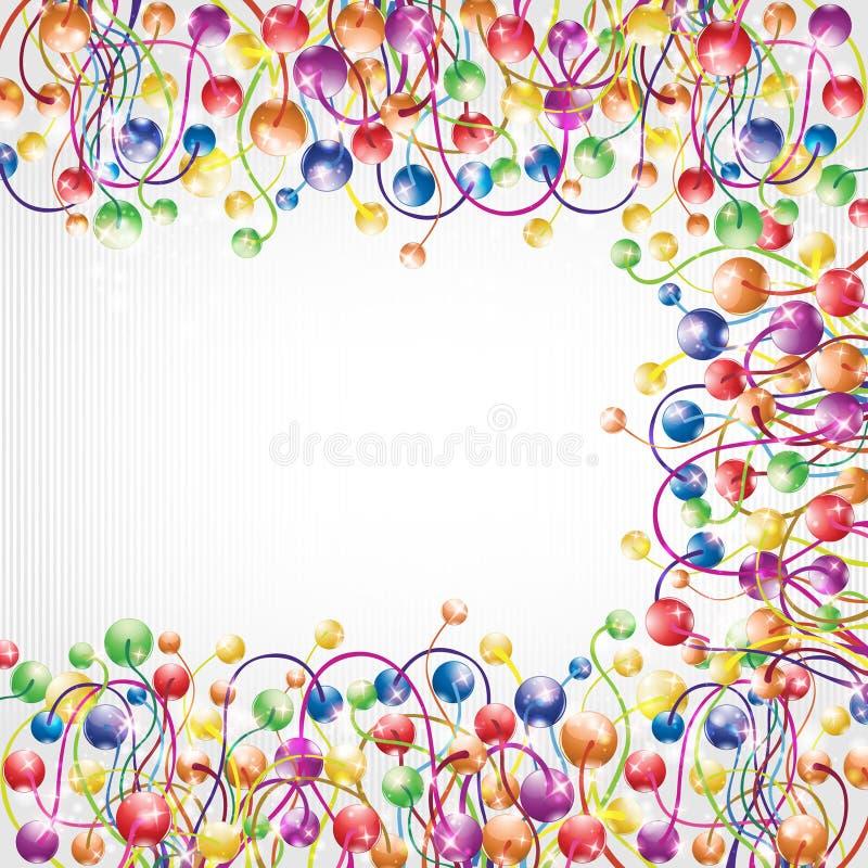 攀爬彩虹颜色蒴框架光滑的背景 皇族释放例证