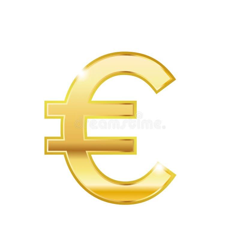攀爬金子欧洲时髦3d样式传染媒介象 金黄欧洲货币符 货币符号象传染媒介设计 向量例证