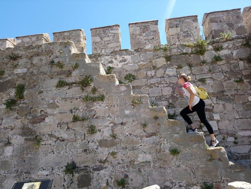 攀登墙壁 免版税库存图片