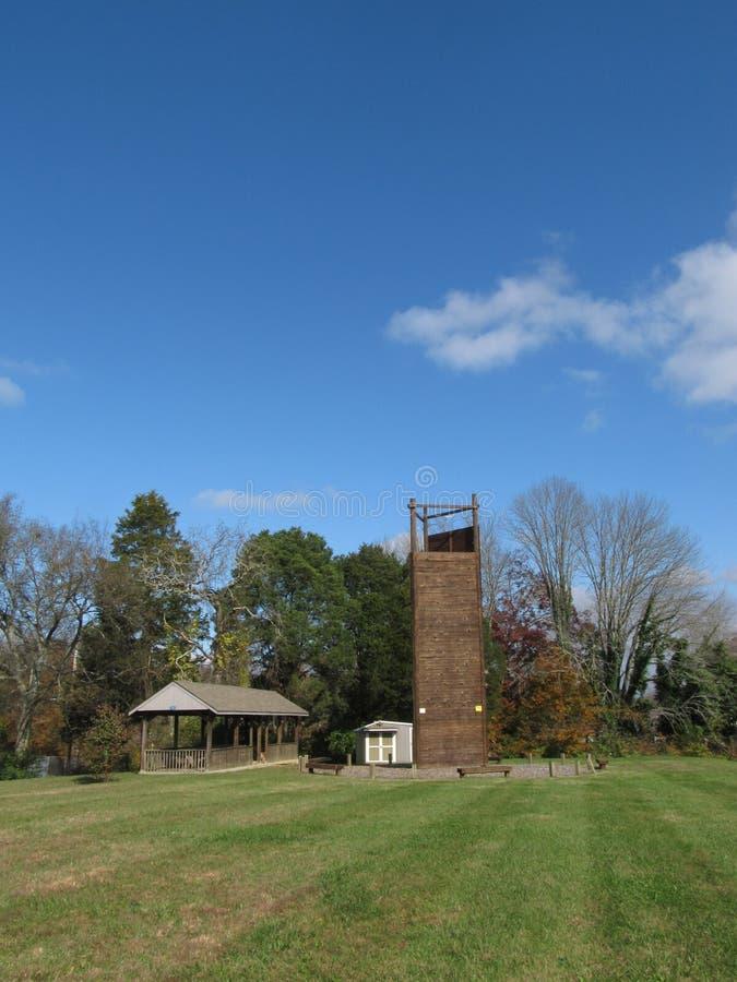 攀登Tower4的橡树岭 库存照片