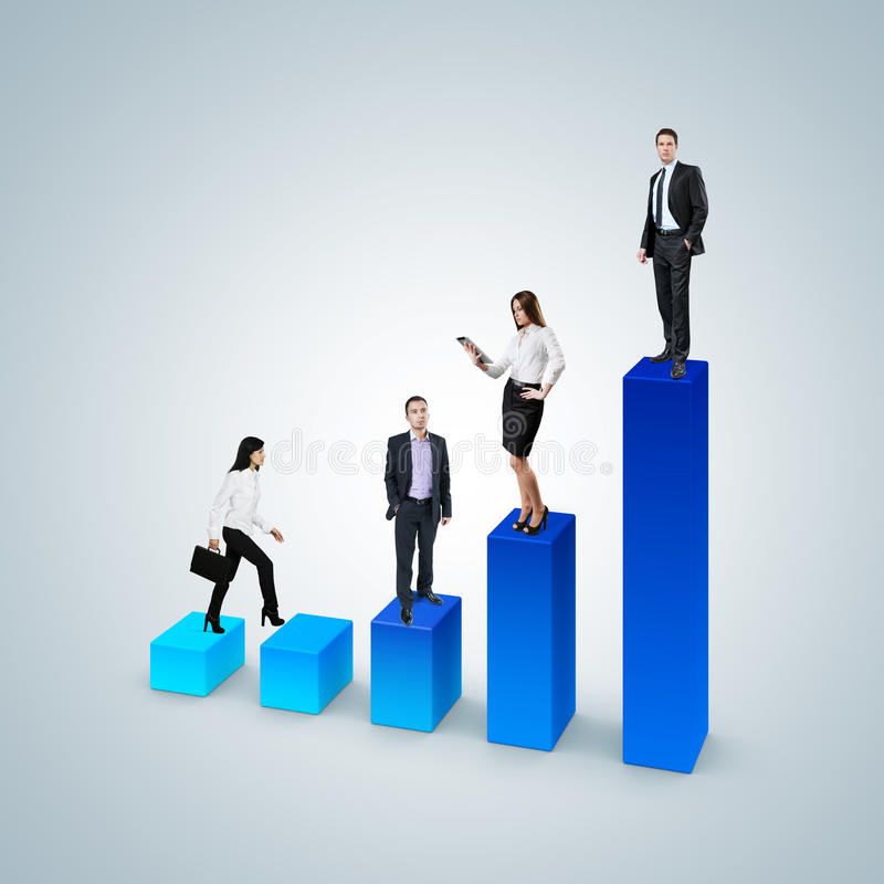 攀登事业梯子概念。企业成功概念。 库存照片