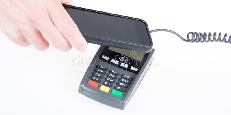 支付与手机 免版税库存图片