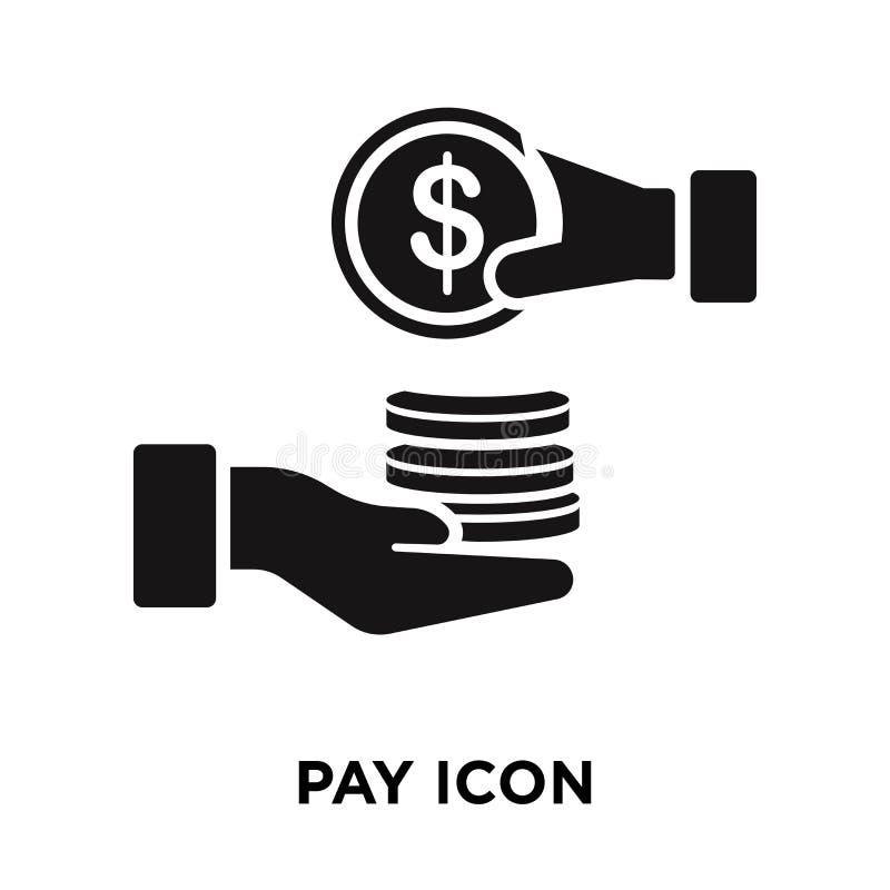 支付在白色背景隔绝的象传染媒介, Pa商标概念  皇族释放例证