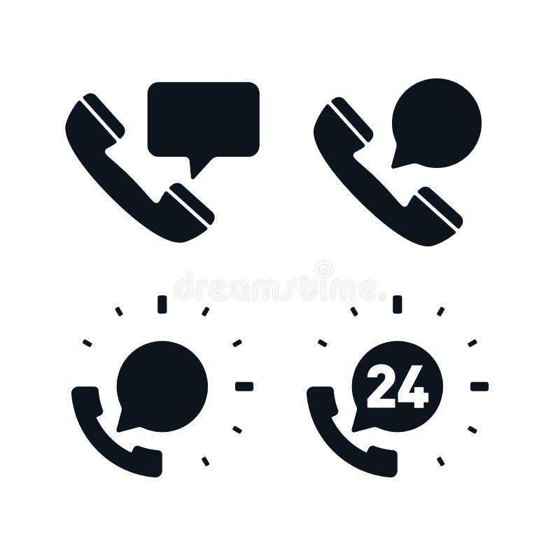 支持与讲话泡影的电话象 库存例证