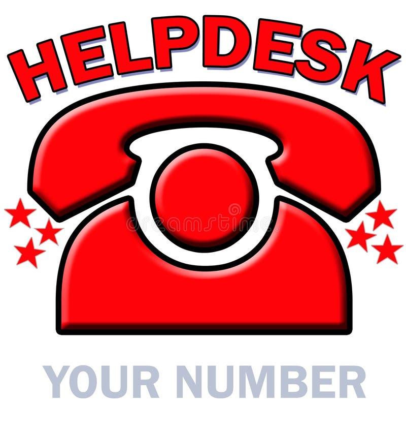 支持中心红色电话 向量例证