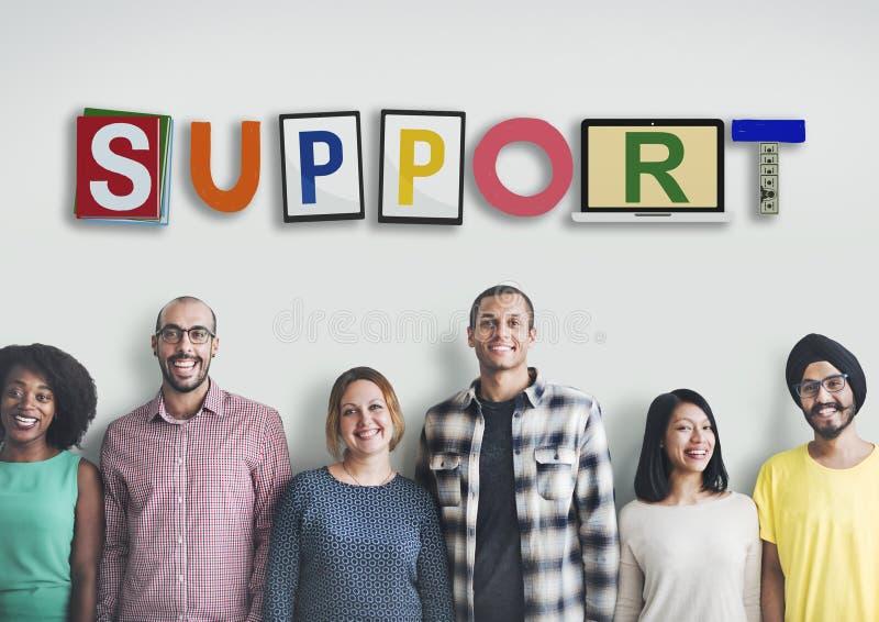 支持合作队忠告帮助援助概念 免版税库存图片