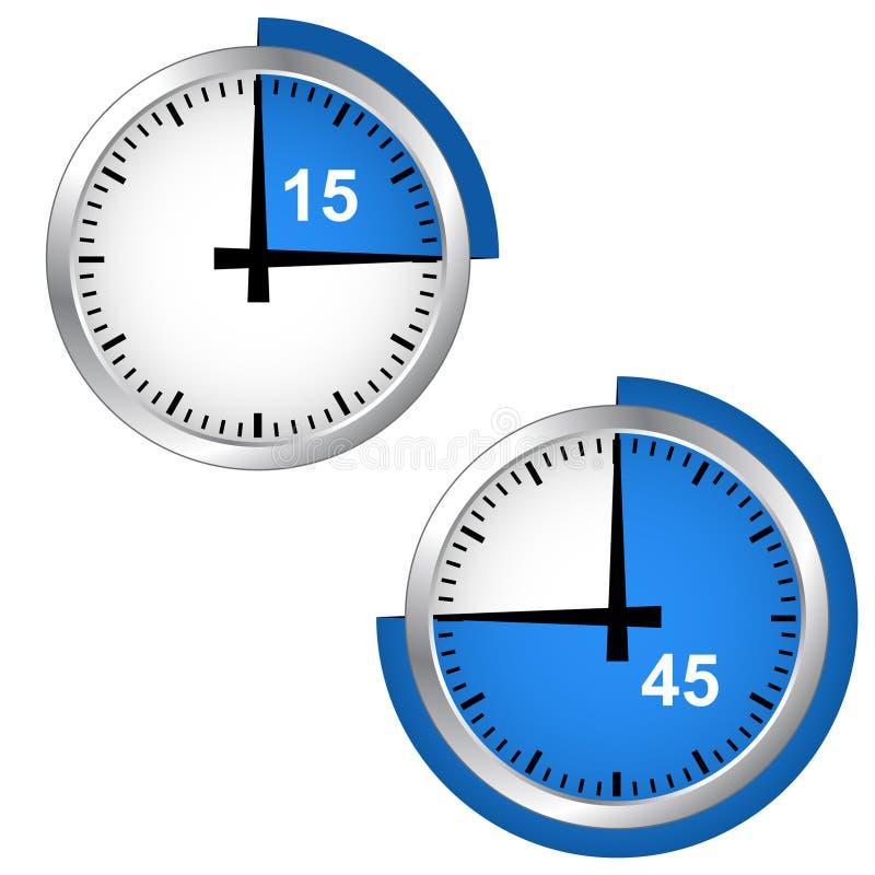 支持定时器 向量例证