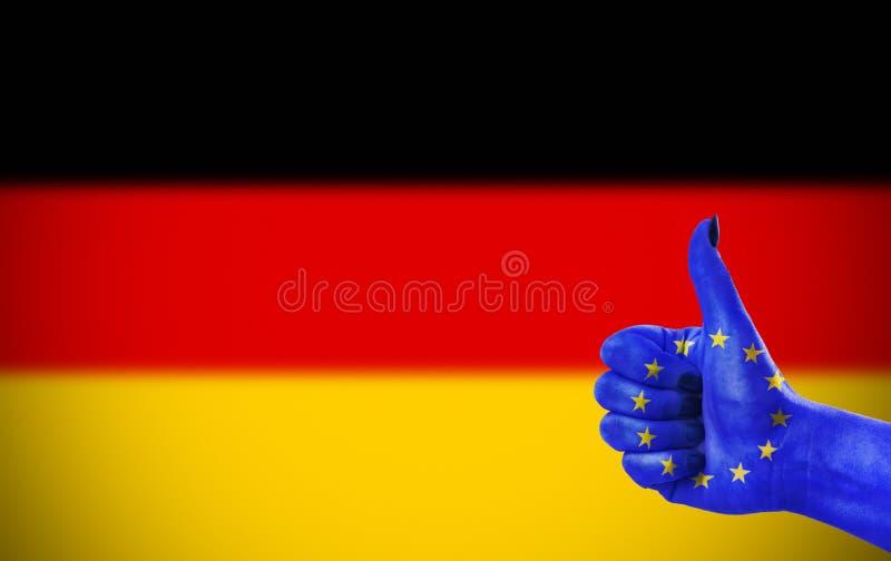 支持德国 图库摄影