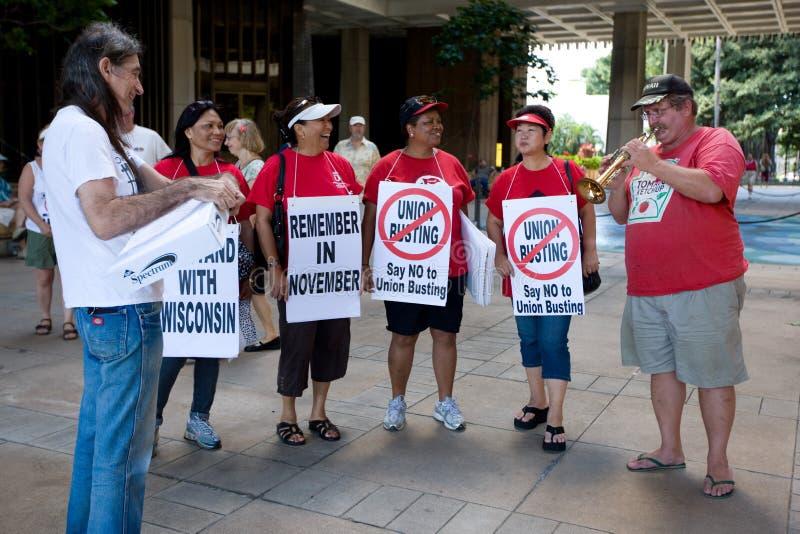 支持者联合威斯康辛工作者 免版税图库摄影