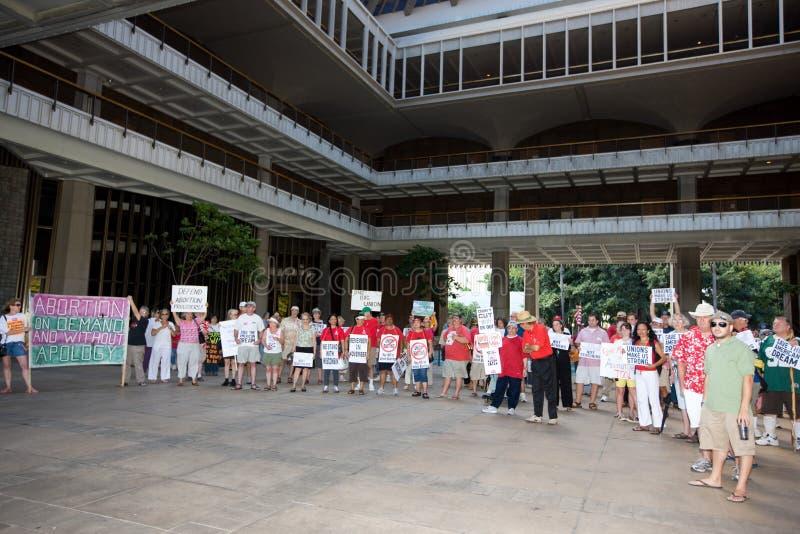 支持者联合威斯康辛工作者 免版税库存图片