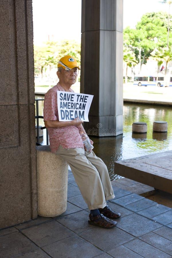 支持者联合威斯康辛工作者 免版税库存照片