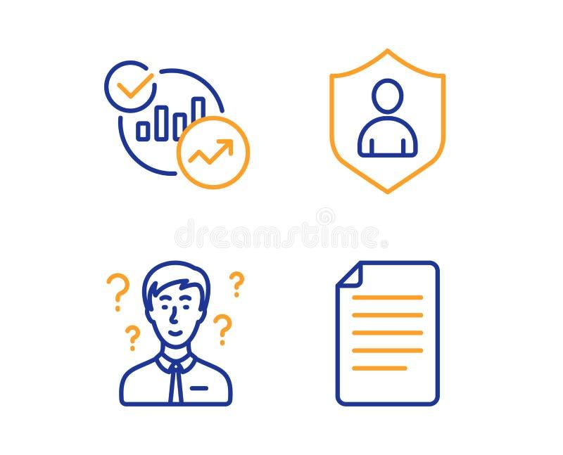支持顾问,统计和安全象集合 文件标志 ?? 向量例证