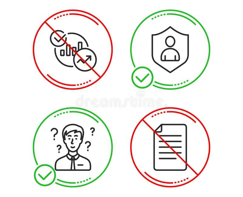 支持顾问,统计和安全象集合 文件标志 ?? 库存例证